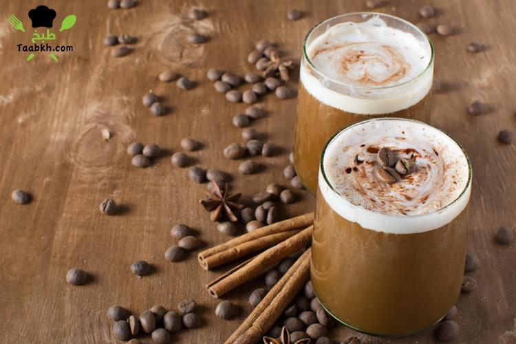 القهوة المثلجة بالرغوة