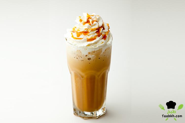 القهوة المثلجة بالكريمة