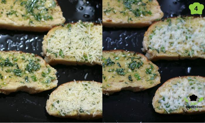 بشر الجبن على الخبز