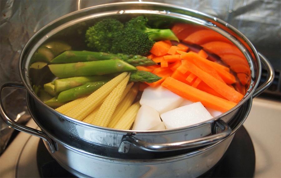 فوائد طهي الطعام بالبخار