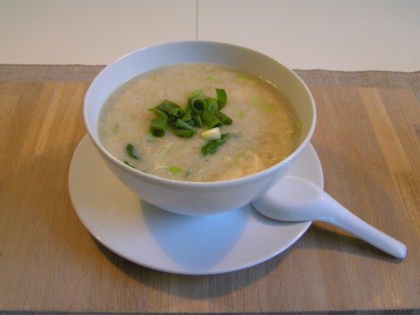 حساء الدجاج مع الشوفان