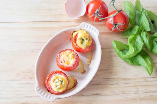 الطماطم المحشي بالبيض