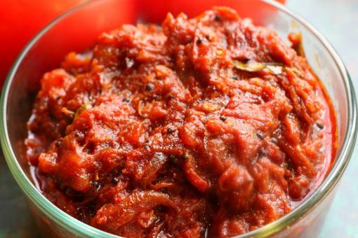 سلطة الطماطم المقلية