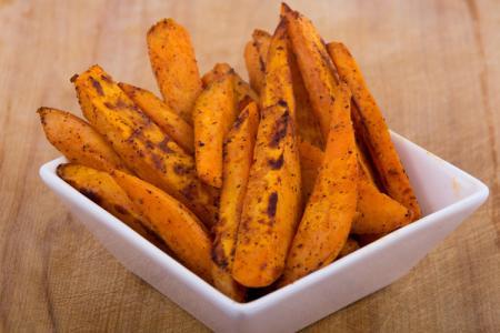 البطاطا الحلوة المشوية