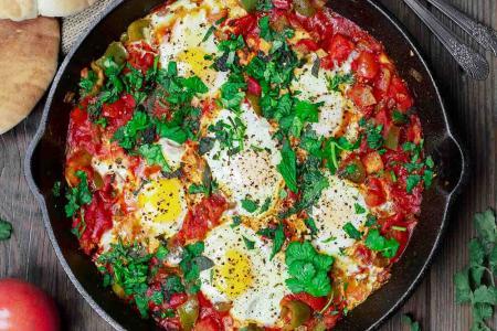 شكشوكة الطماطم و البيض