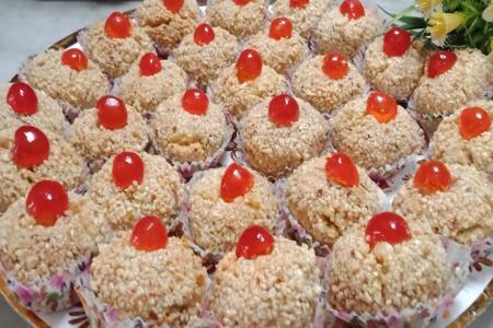 حلوى مشوك بالفواكه المسكرة الجزائرية
