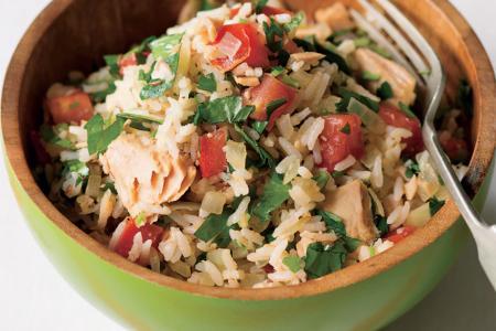 سلطة الأرز بالتونة