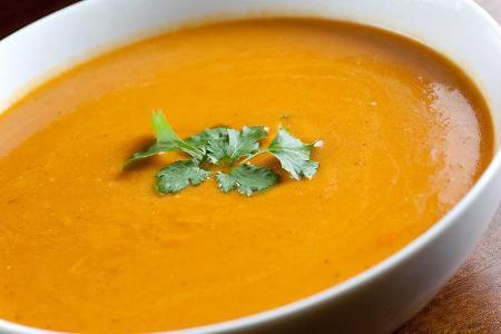 حساء اليقطين بالليمون