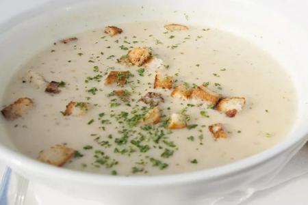 حساء كريمة الدجاج